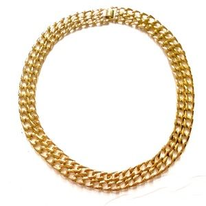 Vintage thick gold chain necklace
